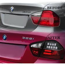 how to make custom led tail lights 08 bmw 3 series e90 4dr sedan fiber optic style led tail lights black