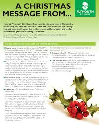 plymouth city council wishes you a happy and healthy christmas