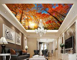 canap suspendu personnalisé 3d peintures murales automne maple arbre suspendu