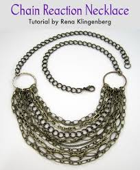 necklace jewelry patterns images Chain reaction necklace tutorial jewelry making journal jpg