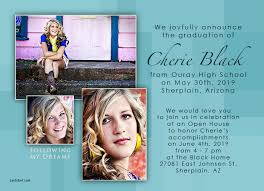 high school graduation announcements wording teal graduation photo announcements photo card chef
