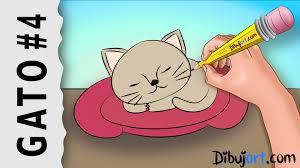 imágenes de gatos fáciles para dibujar cómo dibujar una gato bebé tierno paso a paso 4 serie de dibujos