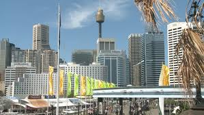 monorail darling harbour sydney wallpapers darling harbour with mono rail and the cbd stock footage video