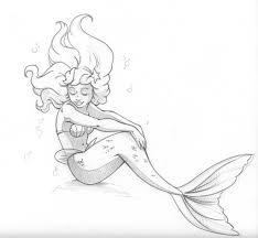 mermaid pencil drawing mermaid drawing google
