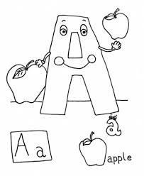 alphabet coloring pages printable apple acorn alphabet coloring