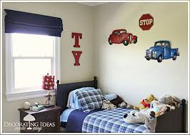 Kids Bedroom Theme Pleasing White Car Bedroom Themes With Old Car Decals On White
