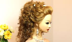 curly prom wedding hairstyle for long hair makeup videos
