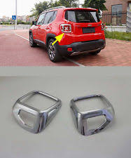 jeep light covers chrome rear light cover trim for 2015 2016 jeep renegade l