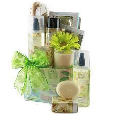 Pamper Gift Basket Green With Envy Spa Gift Basket Gift Baskets