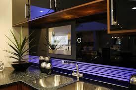 kitchen television ideas tv recessed into kitchen backsplash clever home