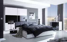 bedroom industrial gray bedroom with white track lights also