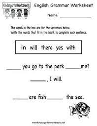 kindergarten grammar practice worksheet printable worksheets