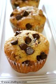 chocolate chip and walnut muffins recipe chef in you