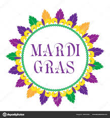 mardi gras picture frame mardi gras frame template with space for text isolated on white