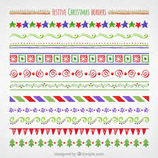 hand painted christmas borders vector free download