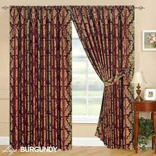 luxury jacquard curtains fully lined ready made tape top pencil