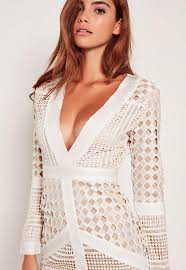 white lace dress white lace plunge bodycon dress missguided ireland