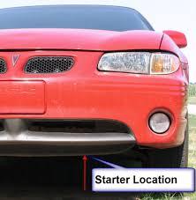 starter removal 1999 pontiac grand prix axleaddict