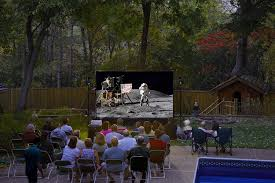 backyard movie theater speakers home outdoor decoration