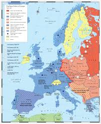 Cold War Map Of Europe by Oregon City Schools Global Studies Cold War