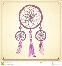 sketch dream catcher in vintage style stock vector image 55222096