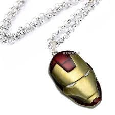 man pendant necklace images Iron man helmet necklace superhero pendant necklaces jpg