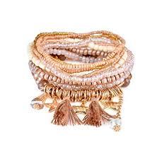charm bead bangle bracelet images Multilayer bohemian brown beaded bracelet crystal jpg