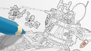 aaron colouring page activities nexo knights lego com