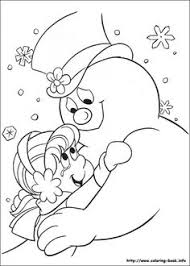 printable coloring pages frosty snowman happy brithday
