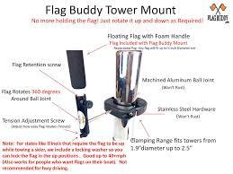 Holding The Flag Amazon Com Flag Buddy Tower Mounted Rotating Skier Down Flag