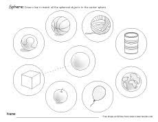 what is a sphere free sphere worksheets for kindergarten