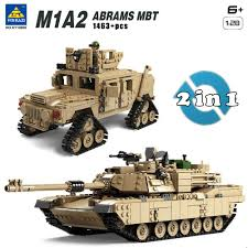 lego army tank kazi military m1a2 tank collection series trans toys 1 28 abrams