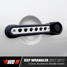 jeep wrangler 4 door silver front rear aluminum grab handle cover trim for 2 u00264 door jeep