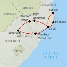 Mozambique Map Mozambique Tours And Safari Holidays On The Go Tours From Usa