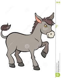 cartoon farm animals for kids cute small donkey stock vector
