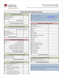 18 monthly budget template excel