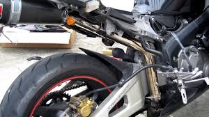 diy how to install an exhaust on a honda cbr 600rr youtube