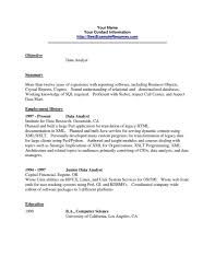 Software Analyst Resume Data Analyst Resume Resume For Your Job Application