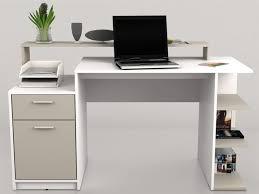 bureaux avec rangement bureau blanc avec rangement table de bureau pas cher eyebuy