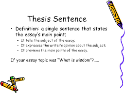 what is the thesis part 1 writing the thesis ppt video online download