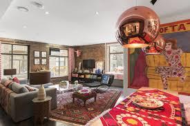 tour the bohemian loft of a pattern loving tribeca designer