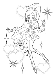catch pretty cure coloring pages for kids printable free