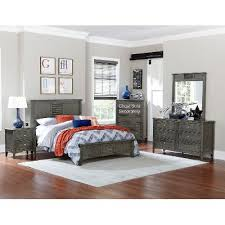 Gray Casual Classic  Piece Full Bedroom Set Garcia RC Willey - Rc willey bedroom set deal