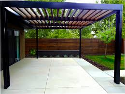 custom metal arbor in a contemporary landscape landscaping in denver