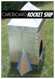 cardboard box rocket ship diy rocket ship for kids