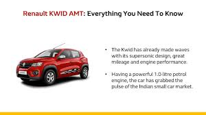 renault kwid amt everything you need to know youtube