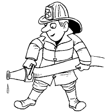 fire fighter coloring professions theme