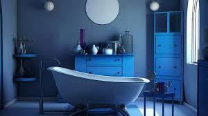 Cool And Charming Blue Bathroom Designs Home Design Lover - Blue bathroom design