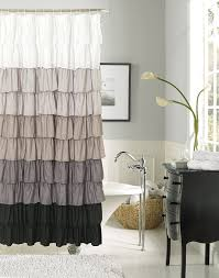 Ruffled Shower Curtains Curtain Gray Ruffle Shower Curtain Grey Ruffle Shower Curtain