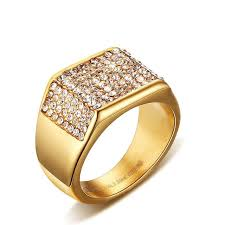 fashion golden rings images Fashion crystal golden rings for men multicolor rhinestone jpg